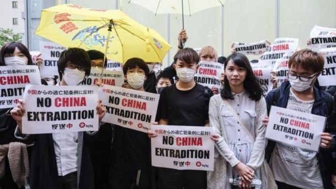 """香港""""反送中""""抗议者"""