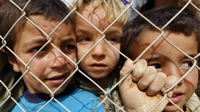 Uk to give sanctuary to unaccompanied refugee children bbc news children in a refugee camp in jordan ccuart Choice Image