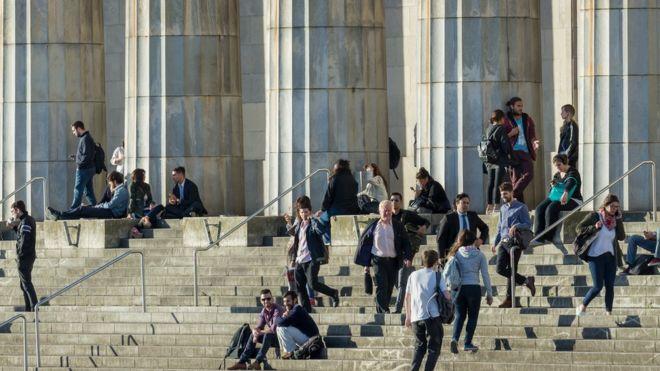 Estudantes na Universidade de Buenos Aires