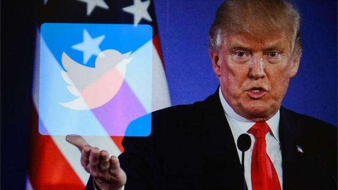 Ông Trump thường xuyên sử dụng Twitter để đưa ra những tuyên bố của mình