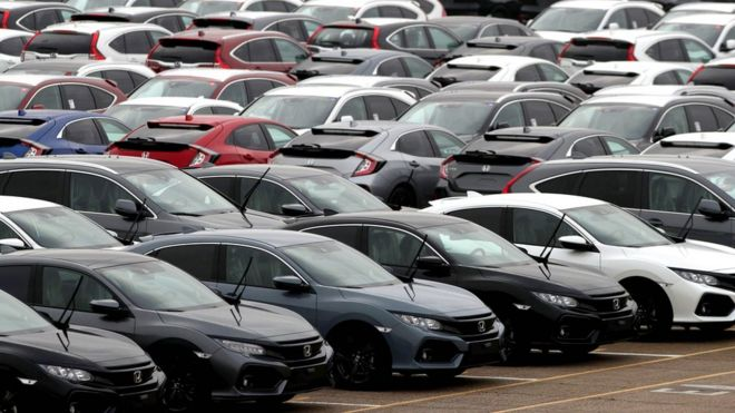 new car sales plunge 20 in september bbc news