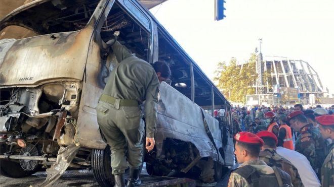التفجير استهدف حافلة عسكرية