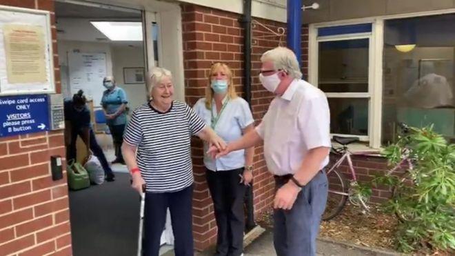 Hucknall woman leaves hospital after 92 days
