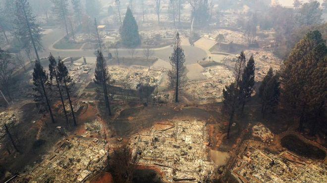 آتش سوزی کمپ فایر مخرب ترین آتش سوزی در تاریخ کالیفرنیاست