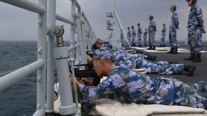 Trung Quốc tập trận ở Biển Đông năm 2017