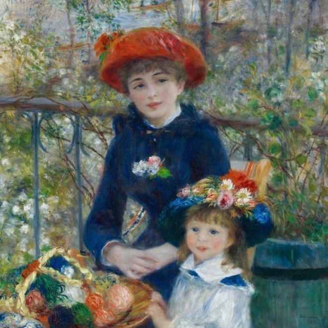 Pierre-Auguste Renoir's Two Sisters (On The Terrace)