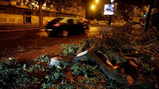Image result for hurricane leslie hit portugal