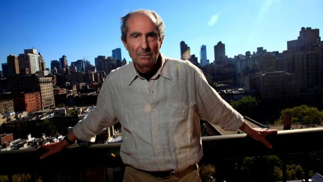 Philip Roth, posing in New York in 2010