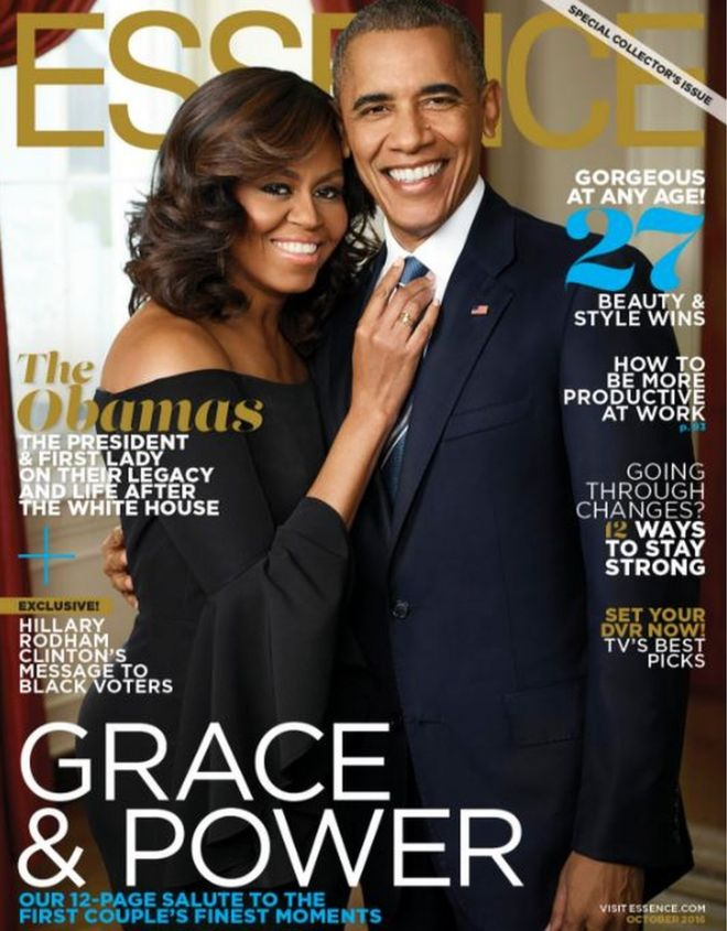 barack and michelle obama s essence photoshoot thrills web bbc news