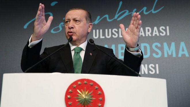 خطاب أردوغان في القصر الجمهوري أكثر خطاباته حدة بشأن الاستفتاء