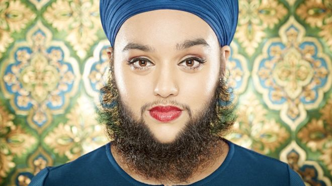 why do females go facial hair
