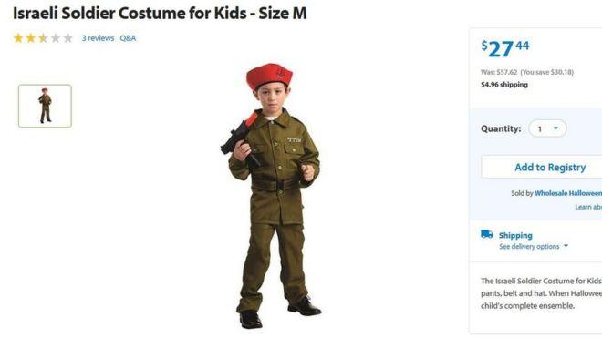 Screengrab of costume from Walmart website  sc 1 st  BBC.com & Walmartu0027s Israeli army Halloween costume sparks controversy - BBC News