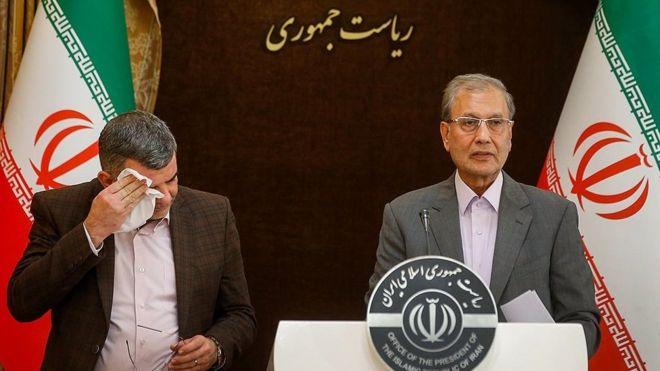 کنفرانس خبری علی ربیعی سخنگوی دولت و ایرج حریرچی معاون وزارت بهداشت یک روز پیش برگزار شده بود