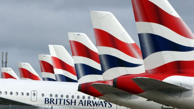 British airways planes