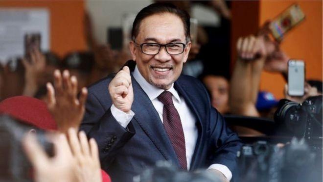 Anwar Ibraahim waxaa salaamay taageereyaashiisa