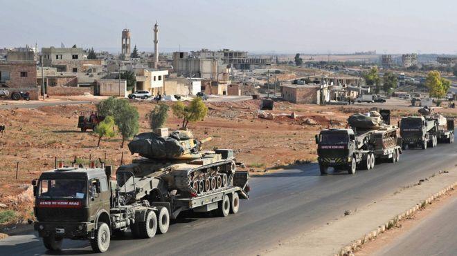 تشير أنباء إلى ان القافلة التركية في إدلب كانت متوجهة إلى بلدة خان شيخون التي تخضع لسيطرة المعارضة
