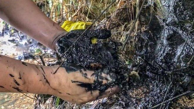 Vết dầu nhớt được phát hiện ở tỉnh Hòa Bình gần kênh dẫn nước vào nhà máy