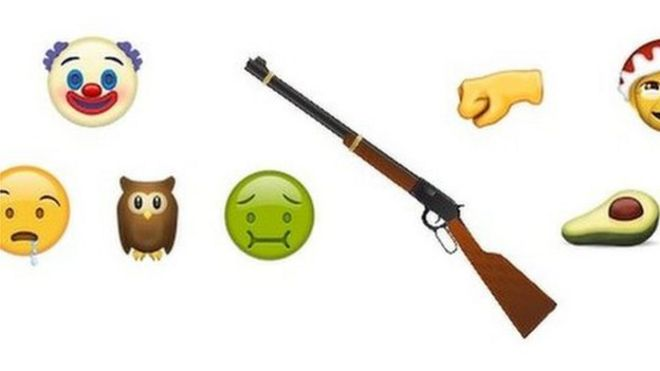 Rifle dropped from new emojis list - BBC News