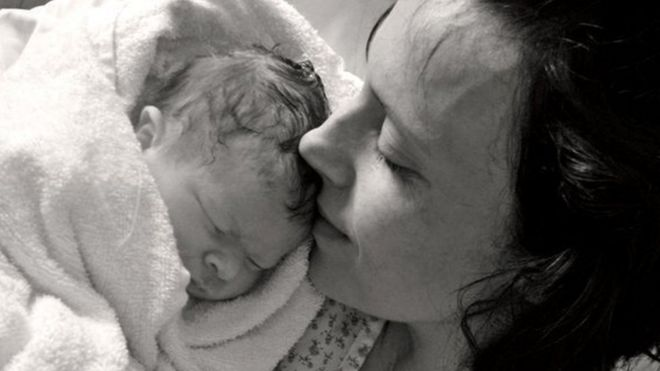 Kate Stanton-Davies with her mother Rhiannon