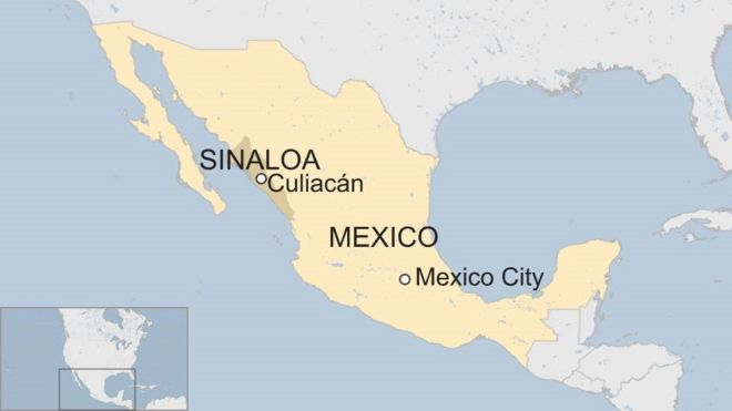 Culiacan Mexico Map Mexican prisoners flee Sinaloa jail disguised as guards   BBC News