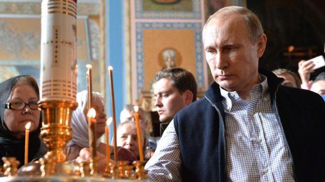 Russian President Vladimir Putin visits Valaam monastery in 2016