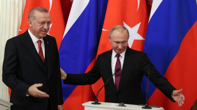 Cumhurbaşkanı Erdoğan dün Rusya'da Vladimir Putin'i ziyaret etti