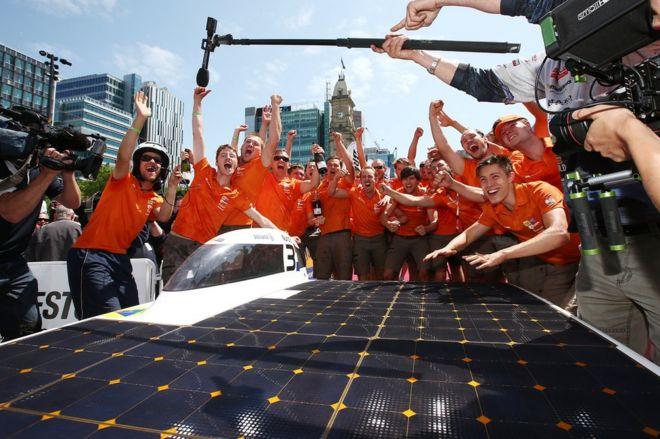 World Solar Challenge Dutch University Delft Wins Race In