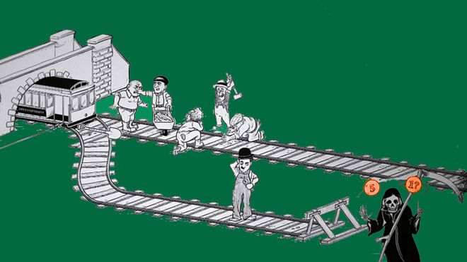 Dibujo del diagrama del tranvía