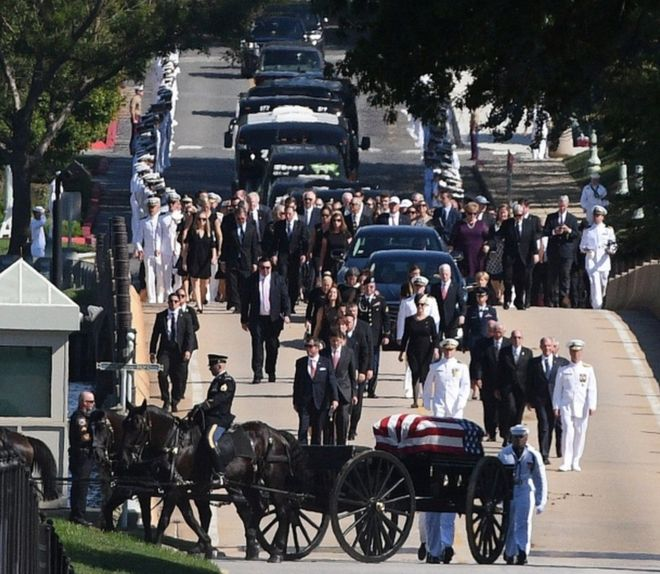 Image result for john mccain funerals