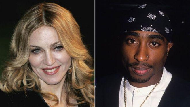 Madonna na Tupac Shakur