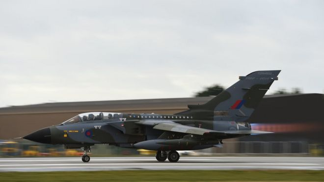 RAF Tornado flypast marks active service retirement - BBC News