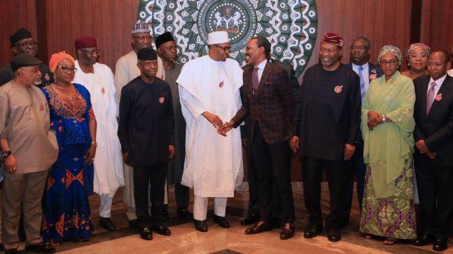 Minimum wage: President Muhammadu Buhari don lunch technical