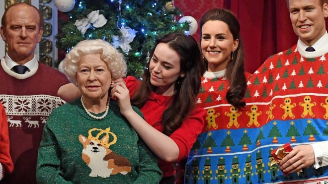 royal family in madame tussauds london - When Was Christmas Created