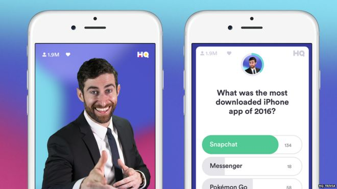 HQ Trivia: The free app giving away thousands of pounds - BBC News