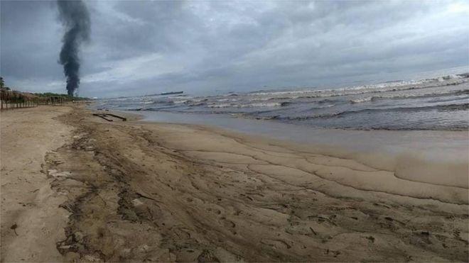Contaminación en Puerto Cabello, Venezuela.