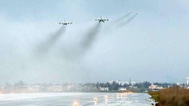 Российская военная авиабаза Хеймим в Латакии. Фото: 16 марта 2016 года