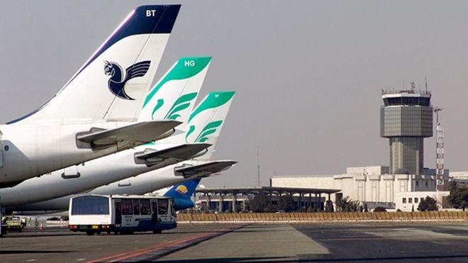 فرود بدون چرخ هواپیمای ایران ایر در مهرآباد