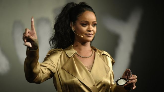 ae223a5261 Rihanna tops Forbes rich list thanks to Fenty make-up - BBC News