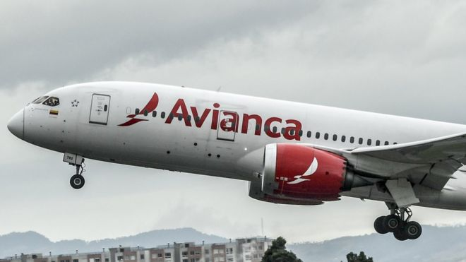 An aircraft of Colombian company Avianca
