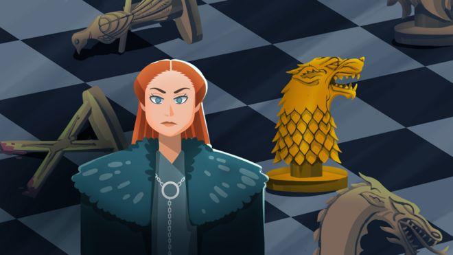 Ilustração de Sansa Stark