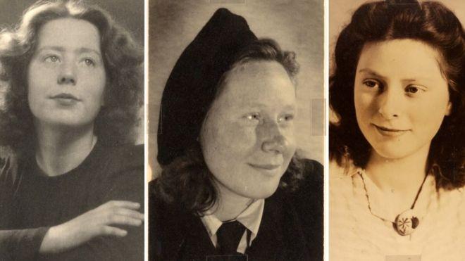 Hannie Schaft e as irmãs Truus e Freddie Oversteegen