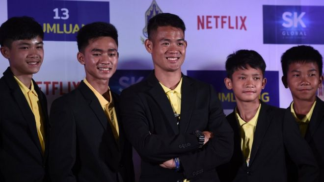 Thai cave boys sign Netflix deal - BBC News