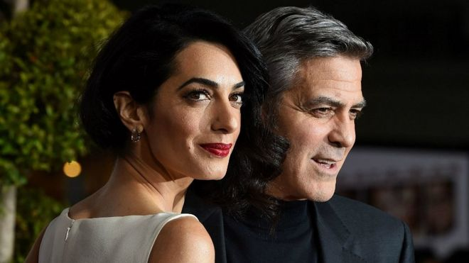 File image of George and Amal Clooney.