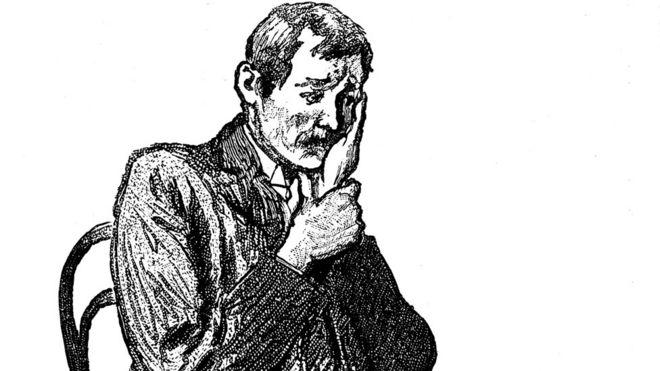 Un hombre con dolor de muelas en el siglo XIX.