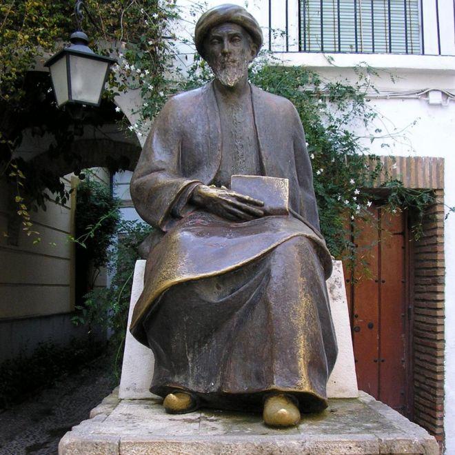 Estatua de Maimónides en Córdoba, España.