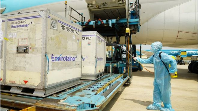 Vaccines arriving in VN on 24 Feb