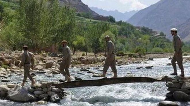 مشاركة قوات الأمن الأفغانية في تدريبات عسكرية في إقليم بانشير بعد سيطرة طالبان على كابل. 21 أغسطس/آب 2021