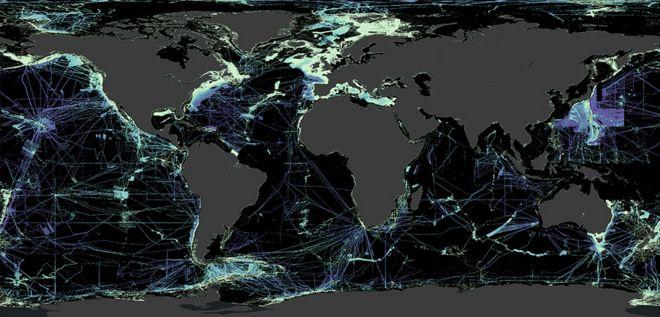 Global ocean floor