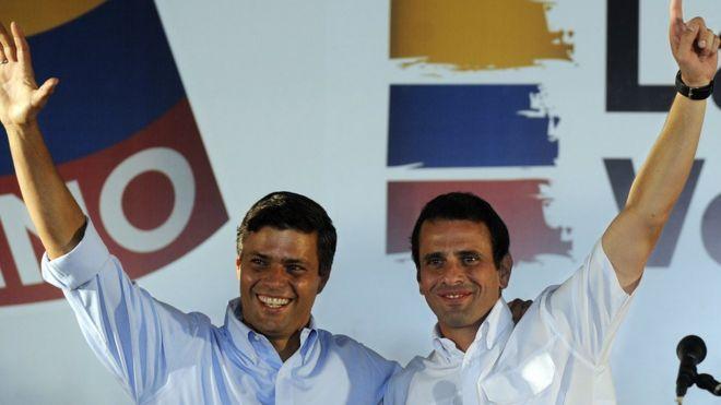 Leopoldo López y Henrique Capriles