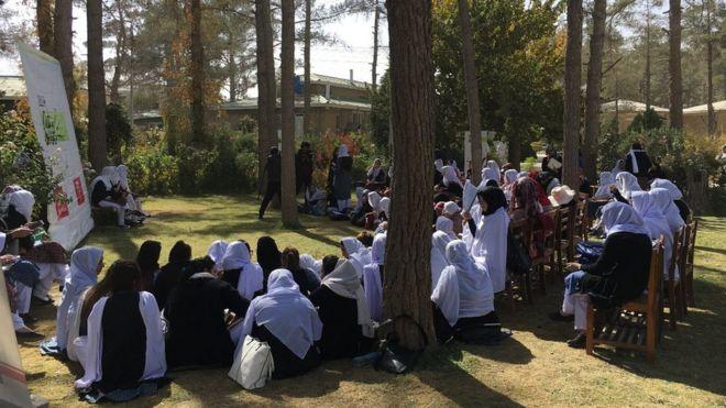 Women at Sardar Bahadur Khan Universty in Quetta